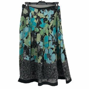 East 5th Womens Pleated Skirt Multicolor Black 6